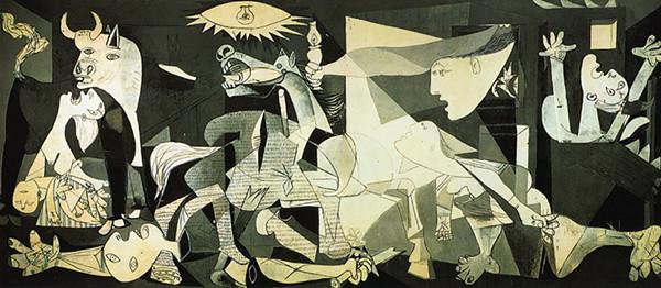 毕加索的传世之作《格尔尼卡》
