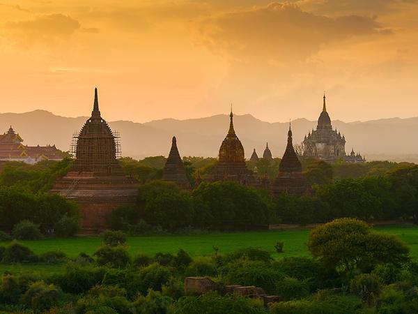 有着宁静之美的缅甸