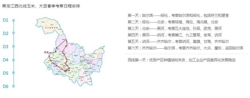 黑龙江西北部考察路线