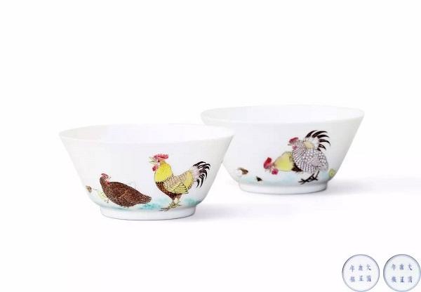 清雍正 洋彩鸡缸杯一对 RMB 4,600,000