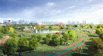 梨园体育公园效果图。通州区提供