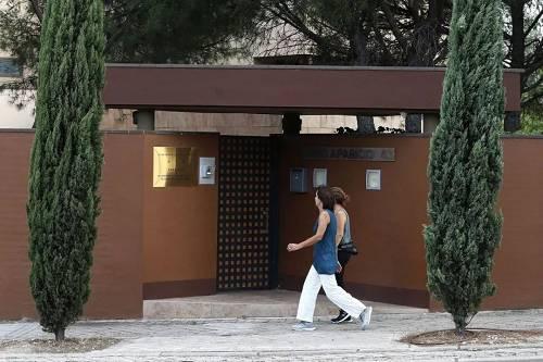 朝鲜驻马德里大使馆入口(美国《华尔街日报》)