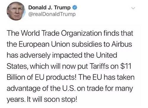 西洋关税大战一触即发!一场历时14年的缠斗,此时发力耐人寻味,全球金融市场影响几何