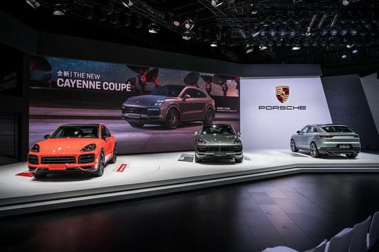 全新 Cayenne Coupé与911 保时捷两款两款首发新车亮相上海车展