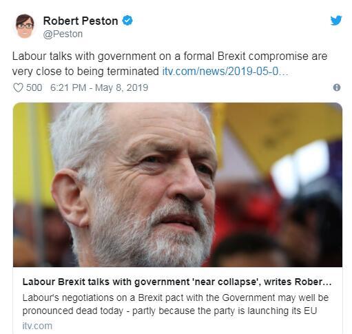 英国保守党和工党就英退继续磋商,英镑涨势逐渐消退