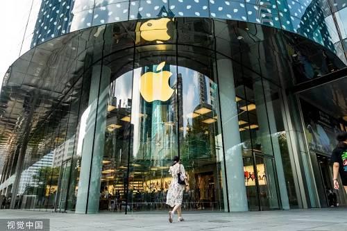 原料图片:一家位于上海的苹果商店。