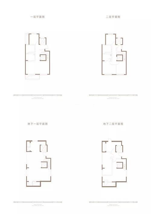 350㎡下叠四室三厅三卫户型图