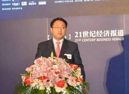 (张旭阳于2013年参加亚洲金融年会现场)