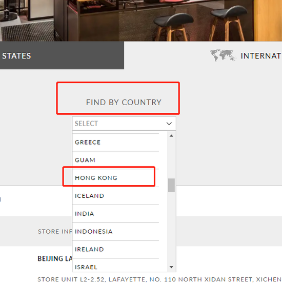 蔻驰T恤与官网将香港、澳门和台湾列为国家