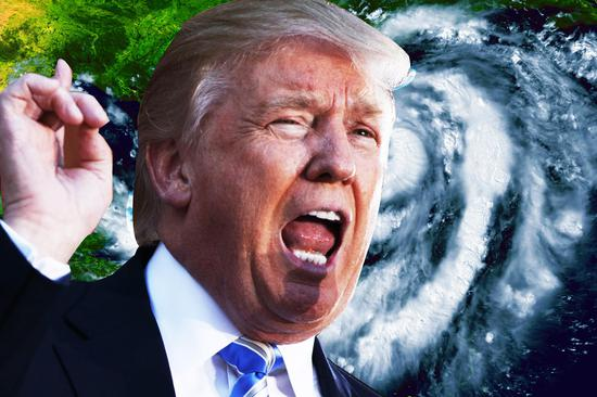"""特朗普曾多次建议使用核弹阻止飓风 被批""""疯了"""""""