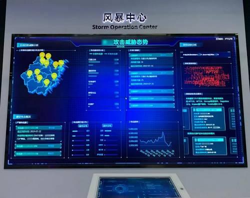 省市级威胁情报全息大屏,支持远程遥控,也太酷炫了吧!