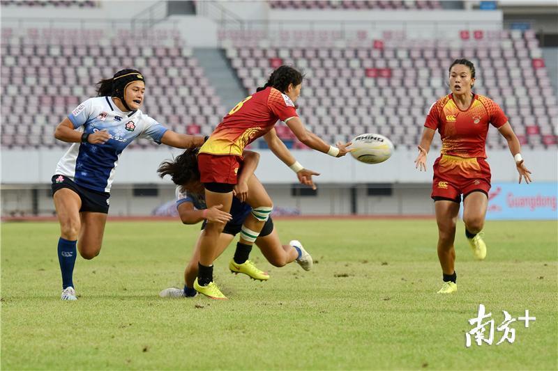 亚洲七人制橄榄球系列赛在惠州举行,中国香港男队夺冠