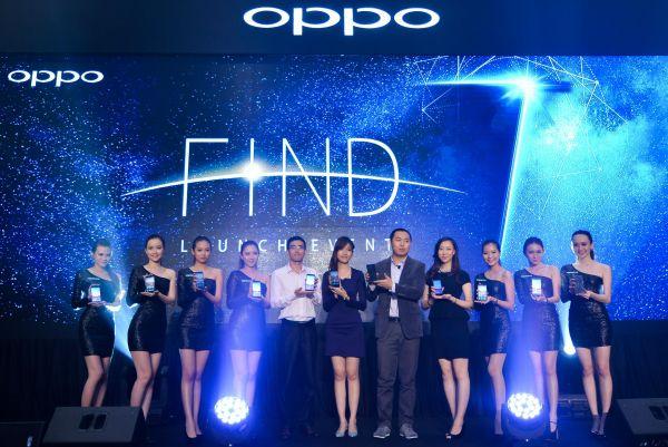 资料图片:中国品牌手机OPPO在马来西亚上市。(新华社)