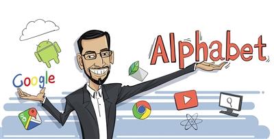 佩奇谷歌及其母alphabet的创始人拉里美国和谢尔盖布林于达斯漫画琪图片