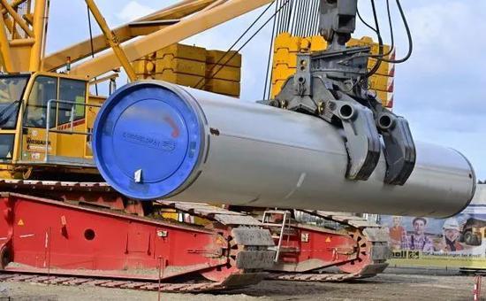 原料图片:这是3月26日在德国卢布明拍摄的北流二线天然气管道项现在建设工地的原料照片。 (新华社/法新社)