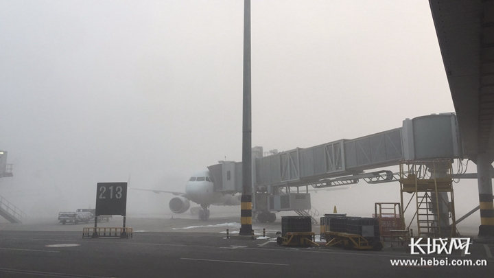 【实时消息】受大雾影响 石家庄机场早出港航班全部延误