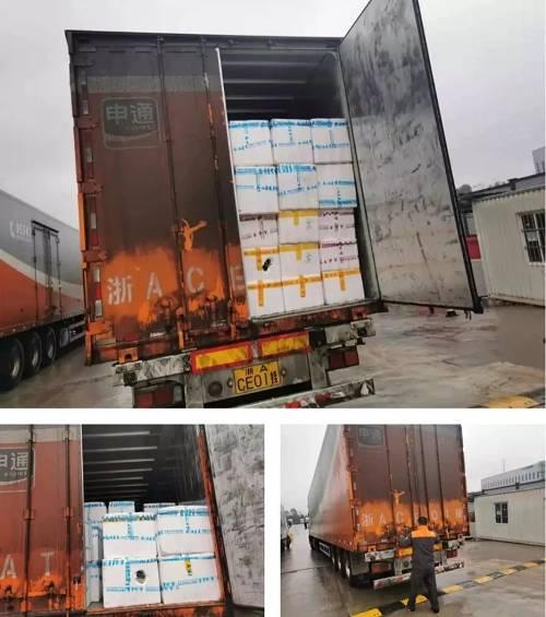 1月26日,一辆由申通快递承运,满载40吨蔬菜、肉类等生活必需品从重庆起程顺当抵达武汉。
