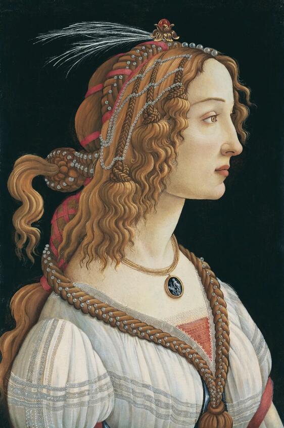 年轻女子的肖像 波挑切利 1482 年