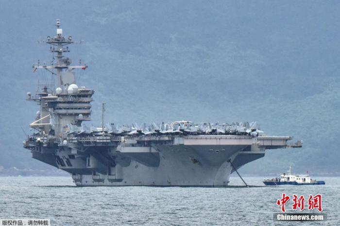 """美国""""罗斯福""""号航母又有五名水兵感染新冠病毒"""