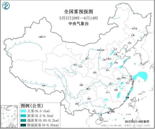大雾黄色预警继续!北京河北安徽等地局地能见度不足500米