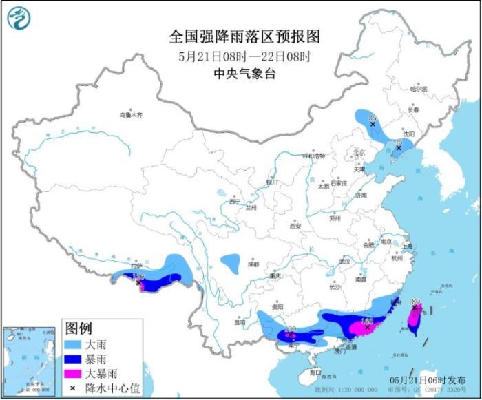 中央气象台继续发暴雨黄色预警 江南华南等地有大暴雨