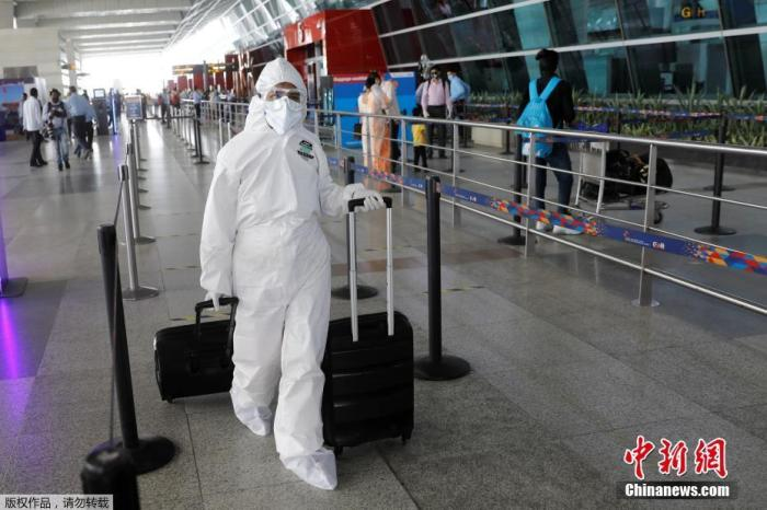 印度新冠病毒感染病例逾19万 总病例数升至全球第七多