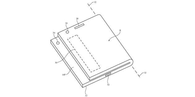 苹果获得新折叠屏iPhone专利:采用非对称折叠
