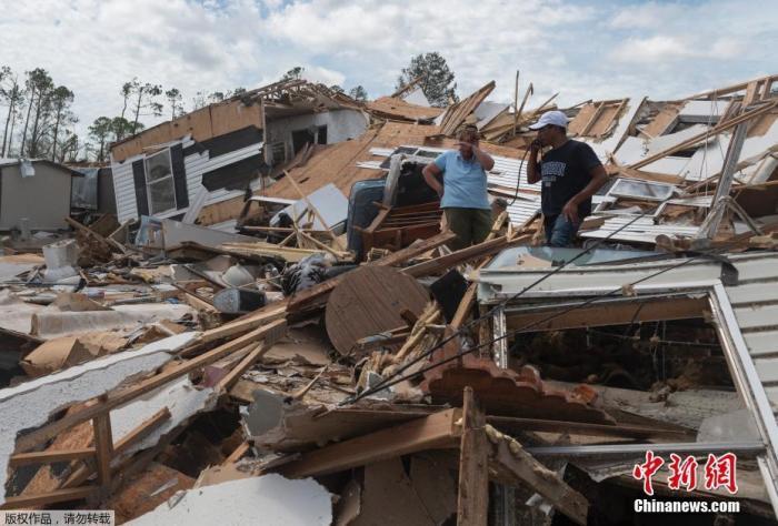 """飓风""""萨利""""将登陆美国 大西洋近50年来首现五大气旋"""