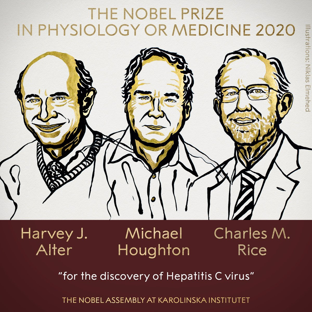 出乎意料!2020年诺贝尔医学奖被授予丙型肝炎发现者