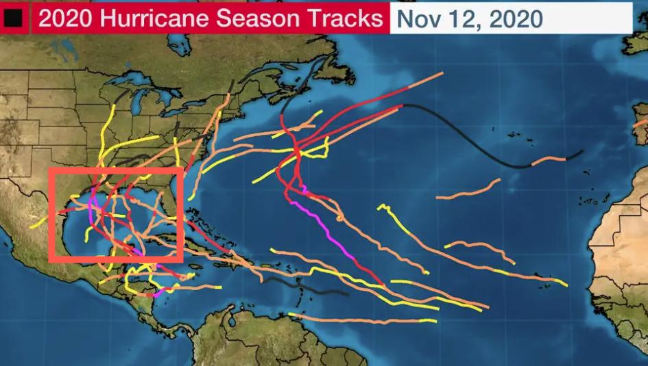 飓风季导致墨西哥湾关闭了4100万桶的产能