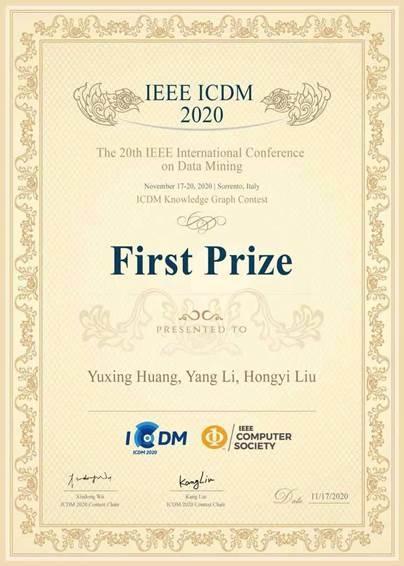 平安财险在ICDM 2020知识地图国际竞赛中获得冠军