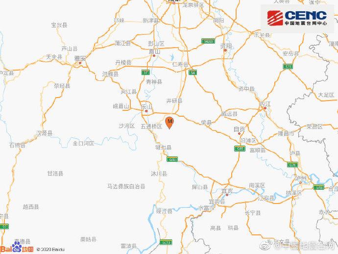 四川乐山市犍为县发生4.2级地震,震源深度13千米