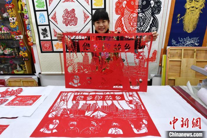 山东青岛:剪纸话新春