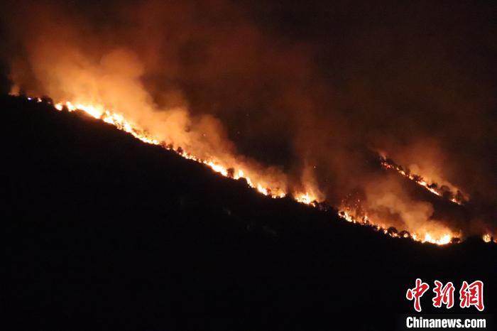 福建南安突发森林火灾 森林消防出动扑救