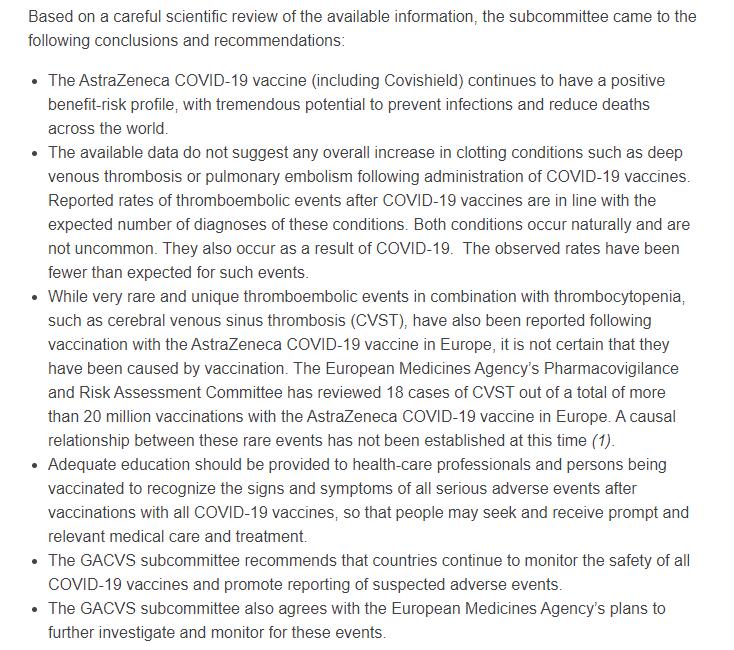 阿斯利康疫苗再获背书 世卫组织:现有数据并未表明会增加血栓风险