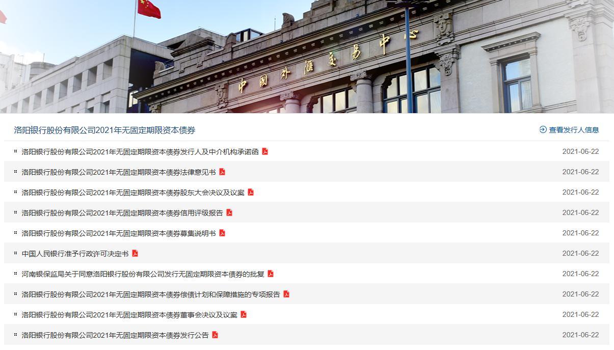 """洛阳银行""""试水""""永续债 发行20亿元补充一级资本"""