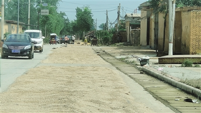 村民返家抢救麦子 村里开展消杀防疫