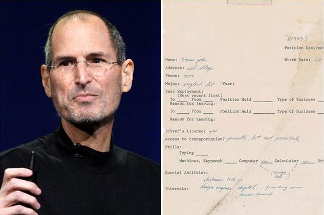 乔布斯1973年求职信拍出34.3万美元 4年升值17倍