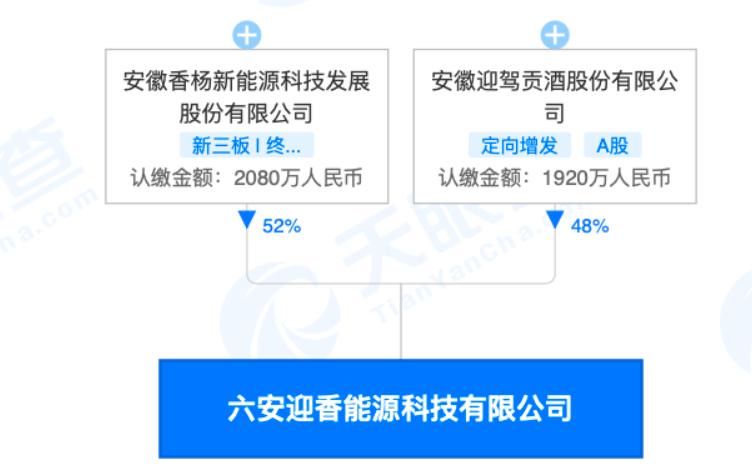 迎驾贡酒合资成立新能源科技公司 持股48%