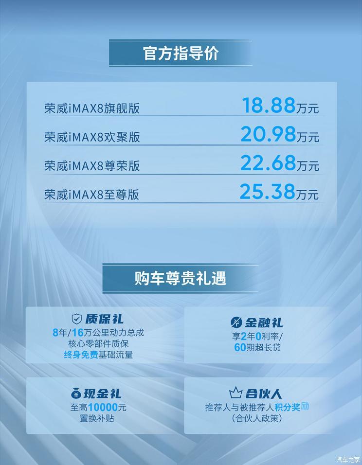 售18.88万起 2022款荣威iMAX8正式上市