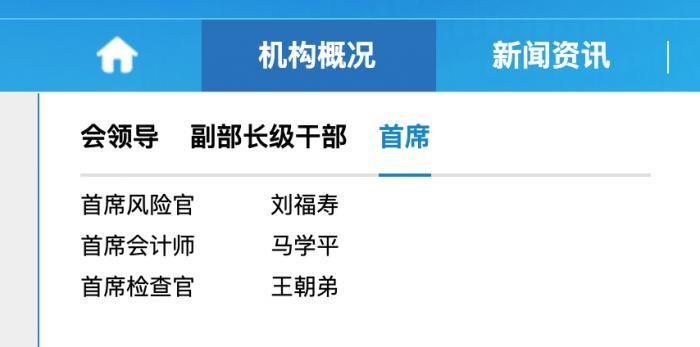 银保监会官宣两大首席:刘福寿、王朝弟分别任首席风险官、首席检查官