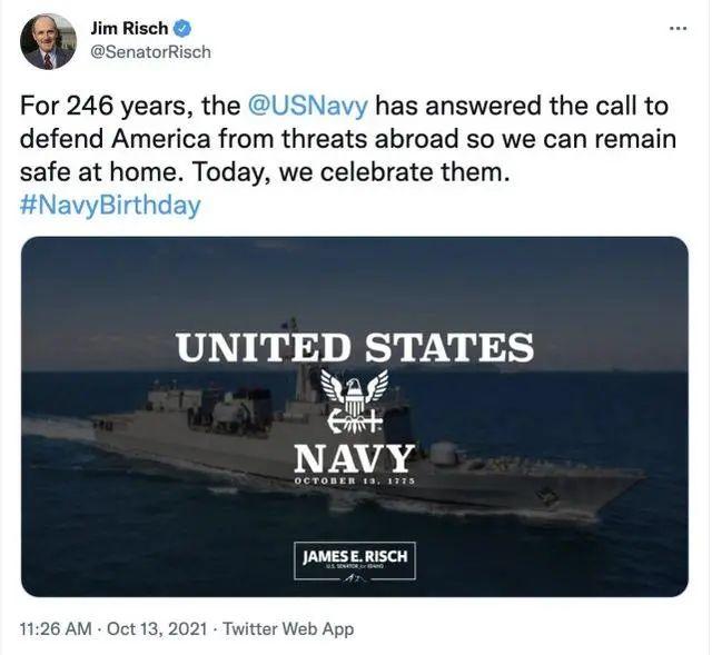 尴尬,美国议员为美海军庆生,用了中国造军舰照片……